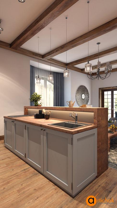 Artichok Design Cucina rurale Legno Bianco