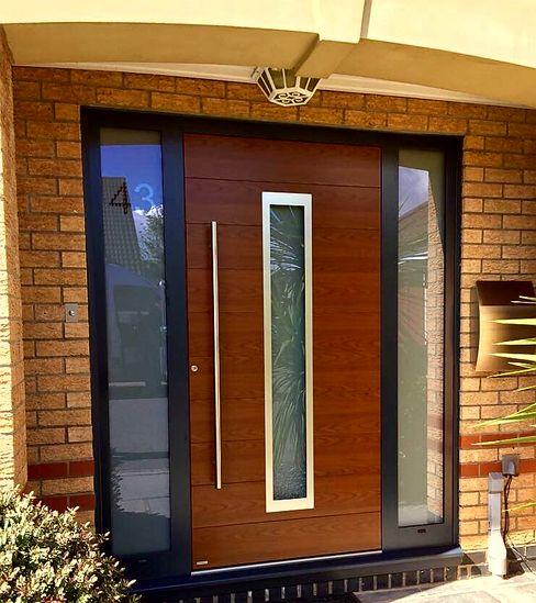 General Images RK Door Systems Front doors Aluminium/Zinc Wood effect