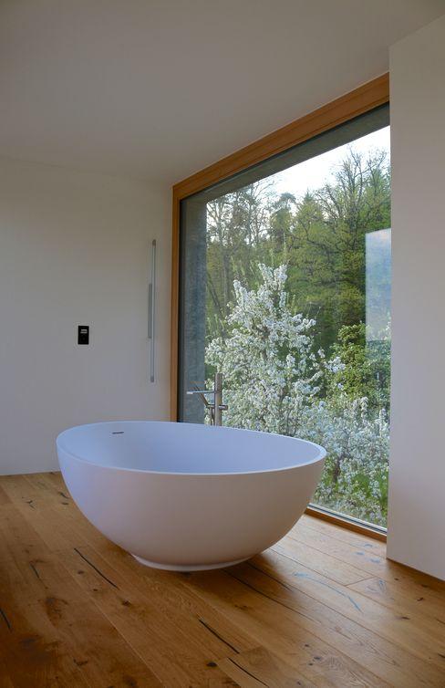 Waldburg Studio Baumann Minimalistische Badezimmer Holz Transparent