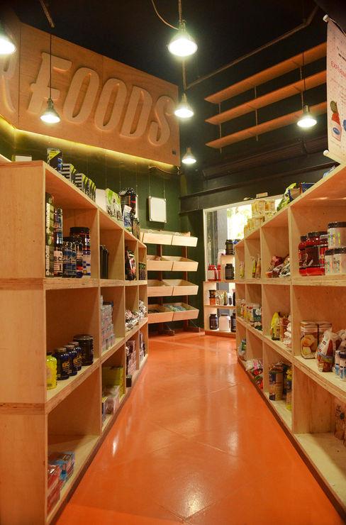 Loja Superfoods homify Lojas & Imóveis comerciais industriais Madeira Laranja