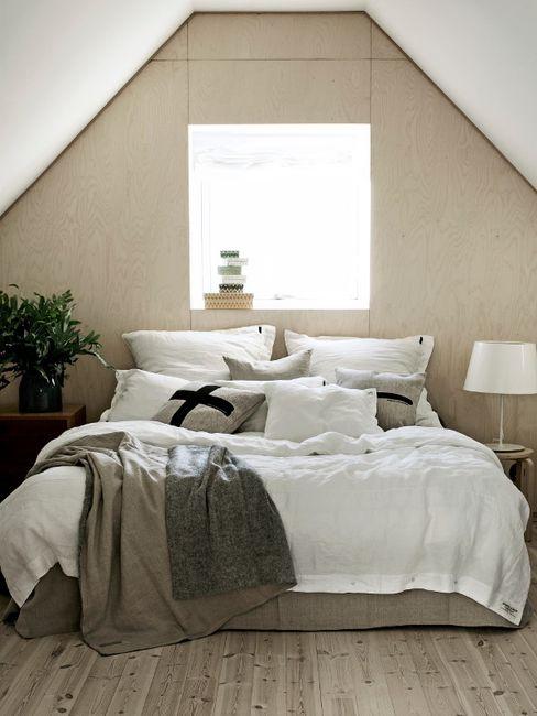 Misty Bettwäsche von Lovely Linen Petit Pont Skandinavische Schlafzimmer Weiß