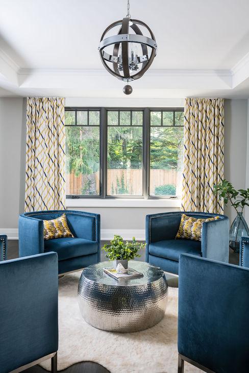 Frahm Interiors Вітальня Сірий