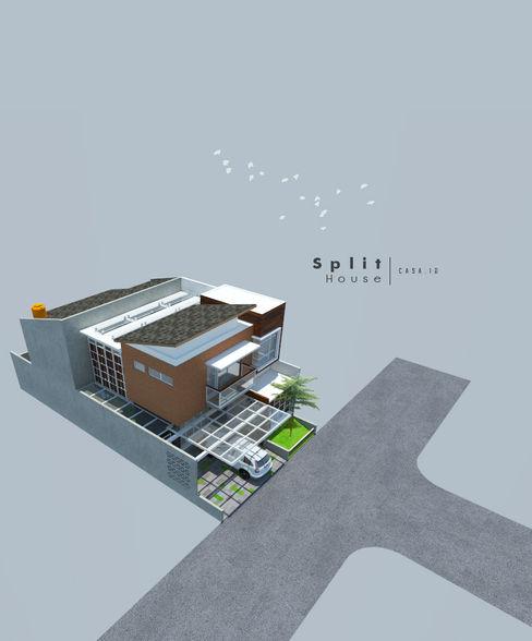 Split House CASA.ID ARCHITECTS Atap landai