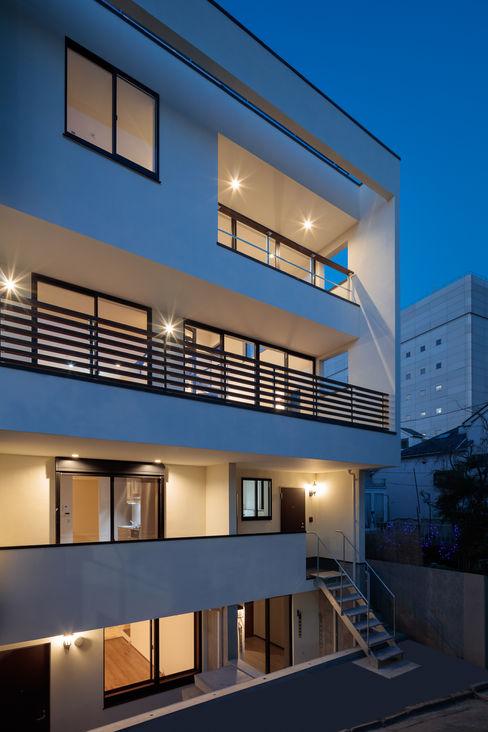 緑と眺望を楽しむ長屋建て住宅 設計事務所アーキプレイス 長屋