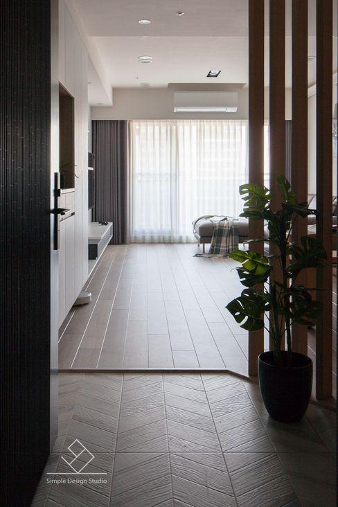 極簡室內設計 Simple Design Studio Couloir, entrée, escaliers minimalistes