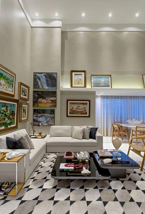 Apartamento Horto Florestal Pires e Medeiros Arquitetura Salas de estar modernas