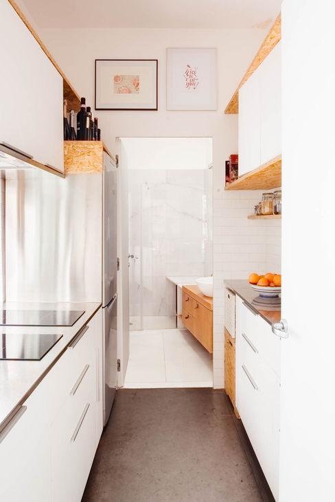 Cucina manuarino architettura design comunicazione Cucina attrezzata Legno Bianco