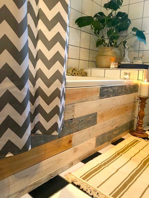 Budget Family Bathroom Makeover Design Little Mill House Bagno in stile rustico