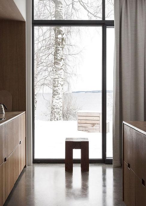 Un rifugio in legno nella natura norvegese Design for Love Finestre in PVC
