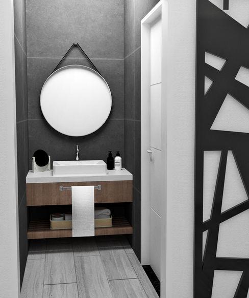 ANTEBAÑO JACH Baños minimalistas Concreto reforzado Gris