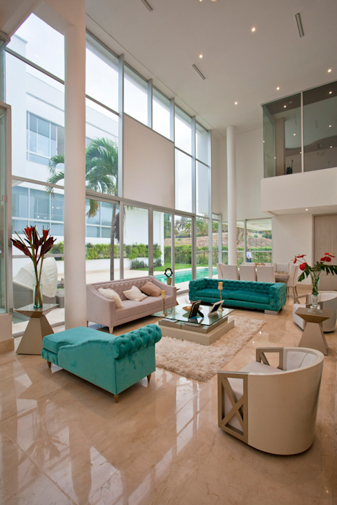 Cabas/Garzon Arquitectos Modern Living Room White
