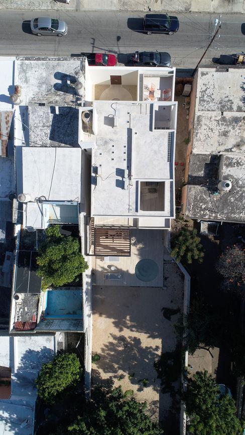 Vista de conjunto del proyecto Alberto Zavala Arquitectos Techos