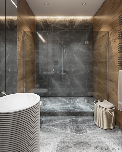 Tobi Architects Baños de estilo minimalista