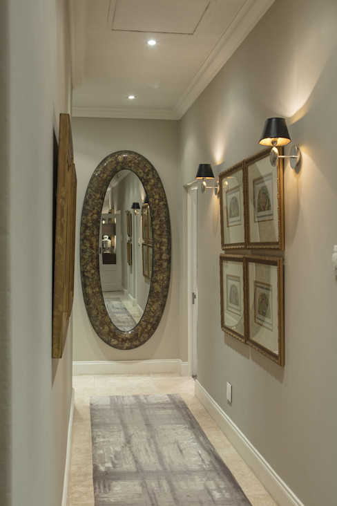 A Hallway that Wows Spegash Interiors Classic style corridor, hallway and stairs