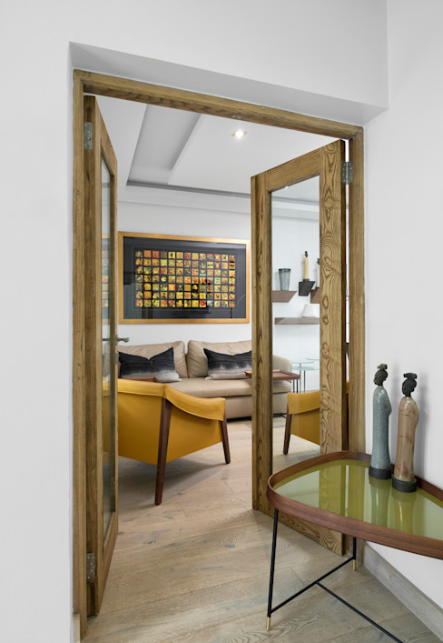 Home Study Entrance Deborah Garth Interior Design International (Pty)Ltd Study/office Wood Yellow