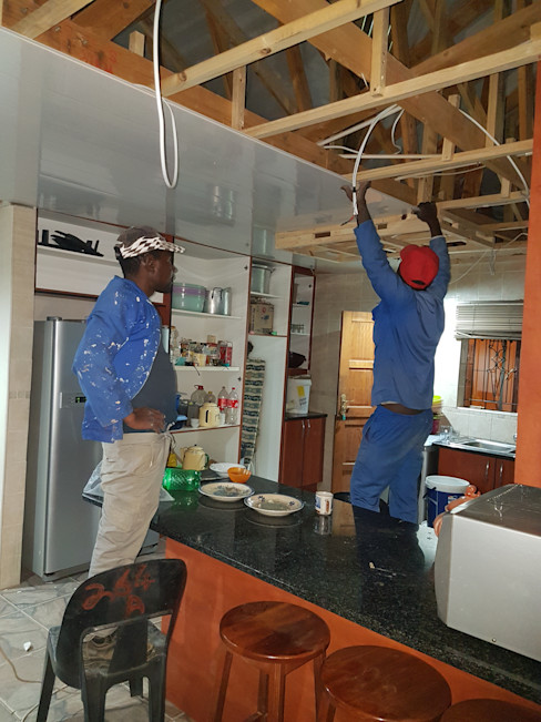 PVC Ceiling Instillation Kgodisho Solutions and Projects Kitchen