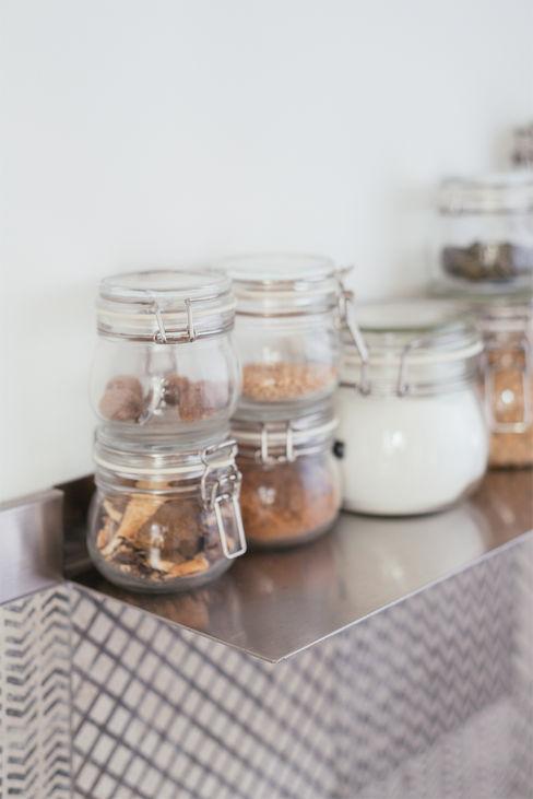 mensole manuarino architettura design comunicazione Cucina in stile industriale Ferro / Acciaio Grigio