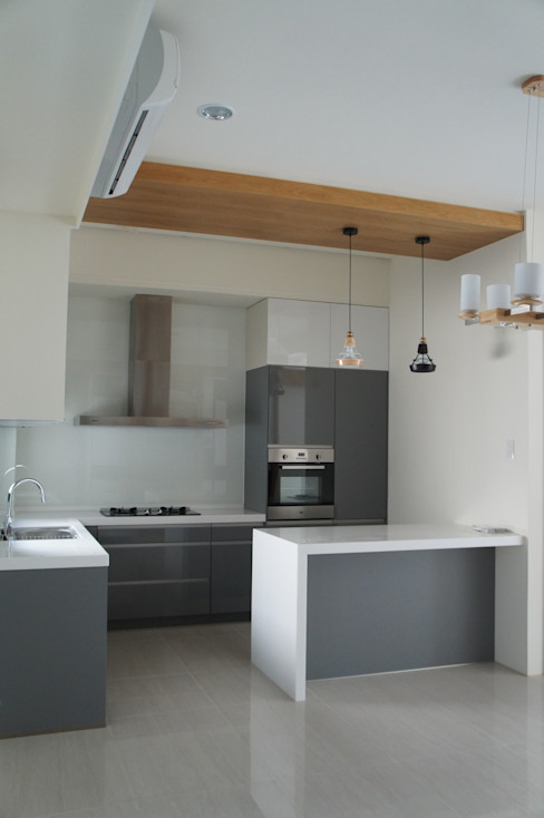 開放式廚房 houseda 廚房 MDF Grey