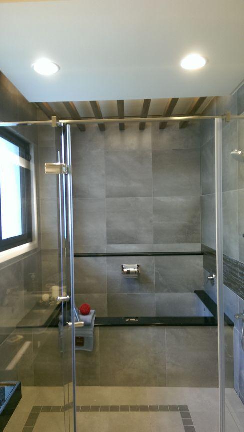 主臥浴室 houseda 浴室 磁磚 Grey