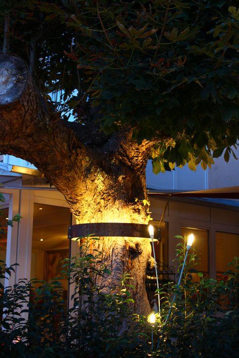 Terrasse des Ristorante Bella Vista Bad Kreuznach Lichtlandschaften Moderne Gastronomie