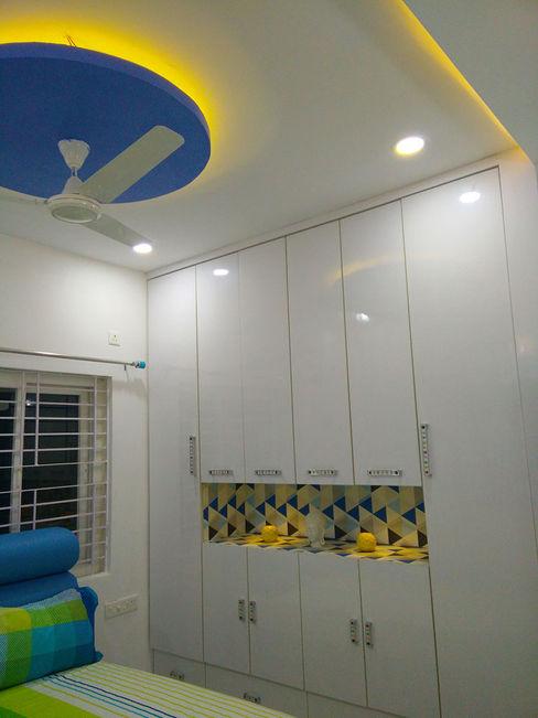 Mr Ravi Kumar PVR Meadows 3BHK Villa Enrich Interiors & Decors BedroomWardrobes & closets