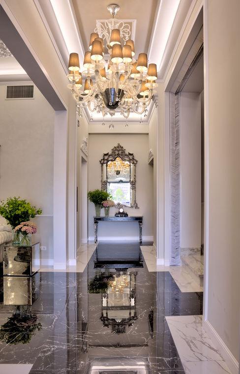 lampadari Murano classici illuminazione hotel lusso MULTIFORME® lighting Ingresso, Corridoio & ScaleIlluminazione Vetro Trasparente