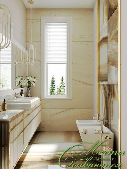 Компания архитекторов Латышевых 'Мечты сбываются' Phòng tắm phong cách chiết trung
