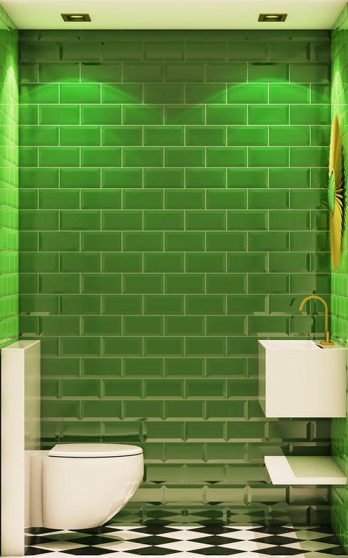 Inêz Fino Interiors, LDA Baños de estilo ecléctico Cerámico Verde