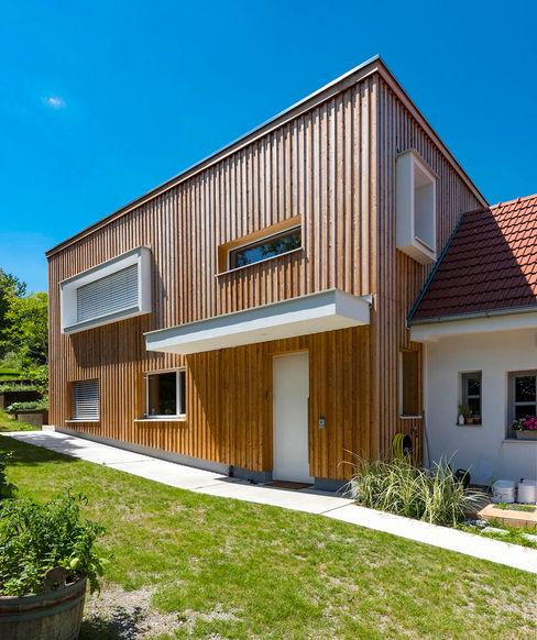 Holzfassade und Holzbau AL ARCHITEKT - in Wien Moderne Häuser