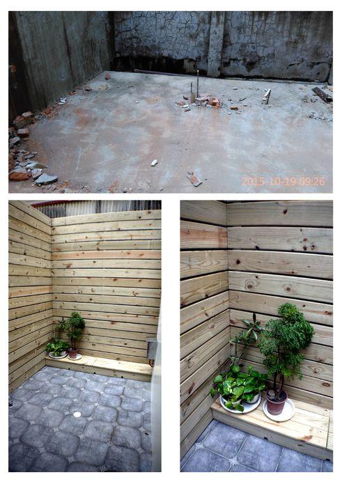 庭園柵欄使用淺色木板 奕禾軒 空間規劃 /工程設計 Garden Fencing & walls