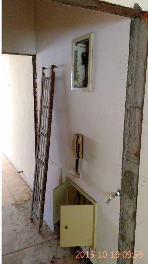 原有的電路箱與對講機 奕禾軒 空間規劃 /工程設計