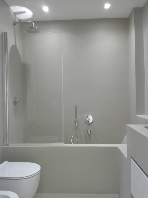Il bagno in muratura Ginevra Selli Architetto Bagno minimalista