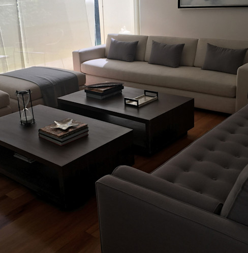 L D Estudio Modern living room Engineered Wood Wood effect