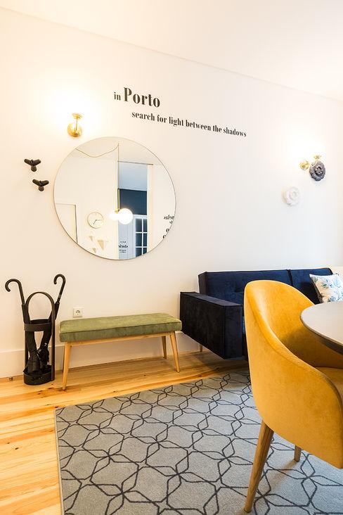 Sala de estar - Janelas de S. Bento, Porto - SHI Studio Interior Design ShiStudio Interior Design Salas de estar escandinavas