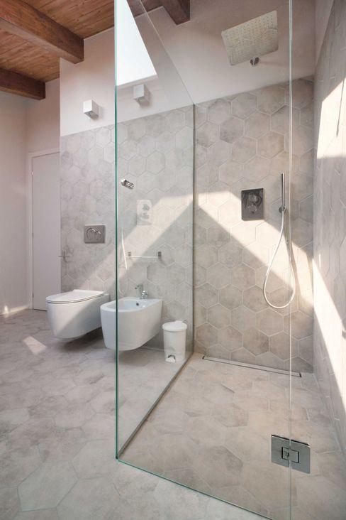 il box doccia in vetro Flavia Benigni Architetto Bagno moderno