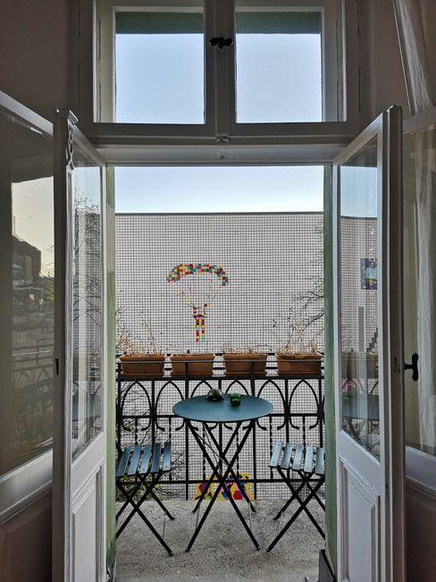 Apartment Projekt in Berlin MA Möbel und Architektur Balkon