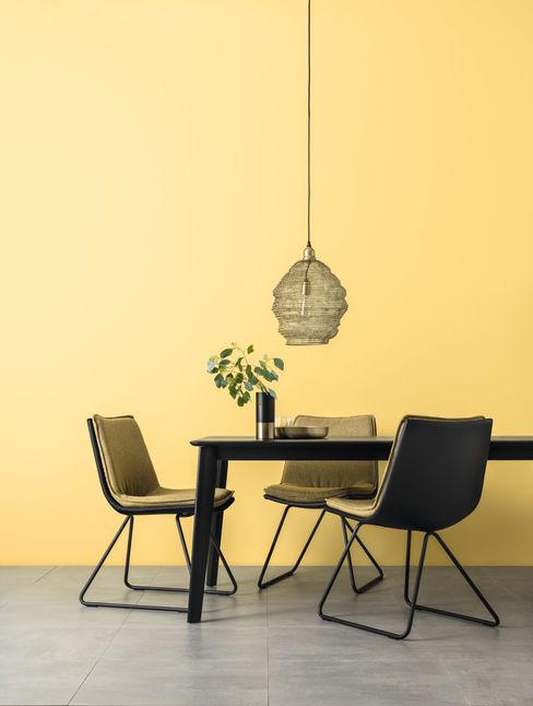 SCHÖNER WOHNEN-FARBE Ruang Makan Modern Yellow