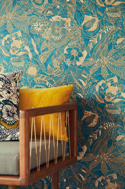 TapetenStudio.de Modern walls & floors Blue