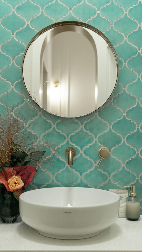 Ivy's Design - Interior Designer aus Berlin 餐廳 磁磚 Turquoise