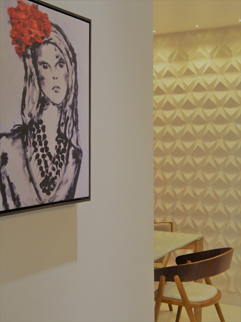 Izabella Biancardine Interiores Modern Corridor, Hallway and Staircase