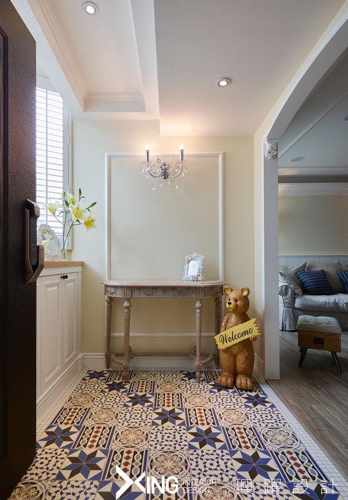 興躍設計 Country style corridor, hallway& stairs