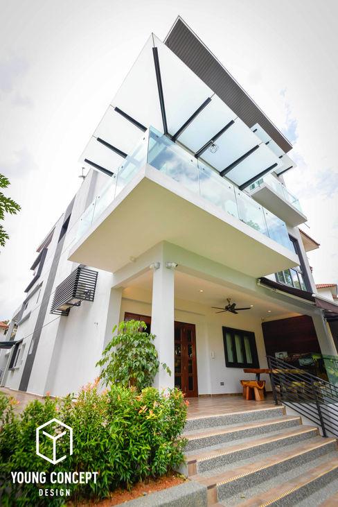 Young Concept Design Sdn Bhd Casas de estilo moderno