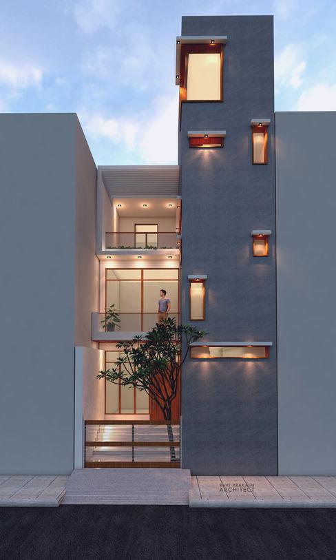 WeekendHome Ravi Prakash Architect Single family home Reinforced concrete White