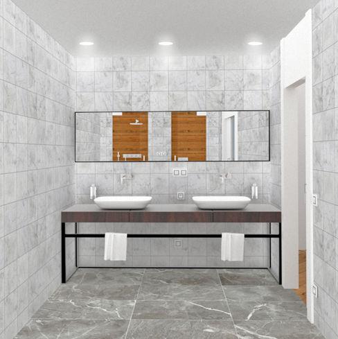 BAÑO arQmonia estudio, Arquitectos de interior, Asturias Baños de estilo minimalista