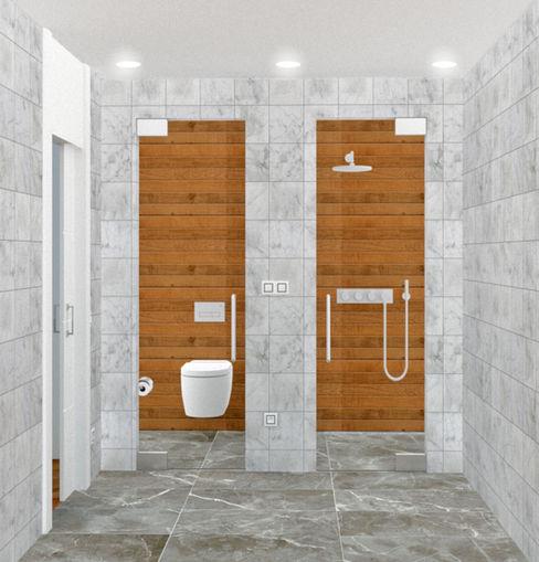 ZONAS INDEPENDIENTES arQmonia estudio, Arquitectos de interior, Asturias Baños de estilo minimalista