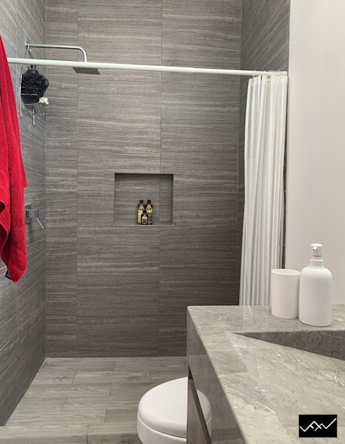 ffelix architecture Modern bathroom Stone Grey