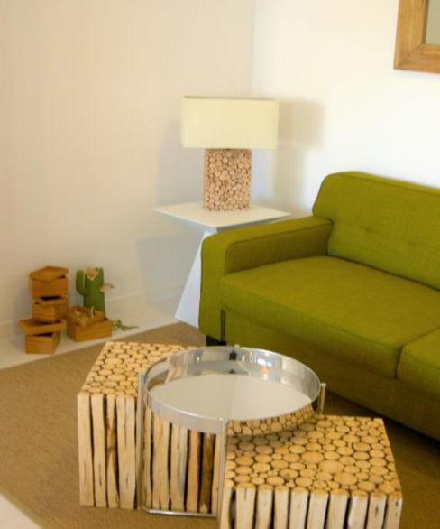 Salón Ana Salomé Branco SalonesSofás y sillones Fibra natural Marrón