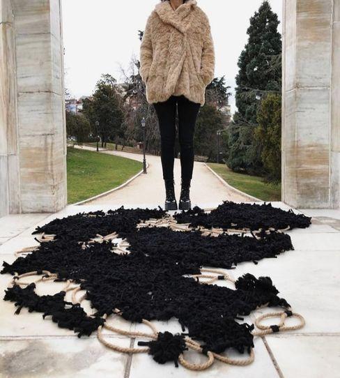 Ana Salomé Branco ArtworkOther artistic objects Textile Black