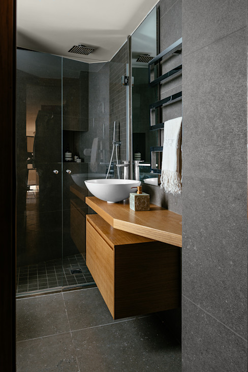 Bagno manuarino architettura design comunicazione Bagno in stile mediterraneo Piastrelle Grigio