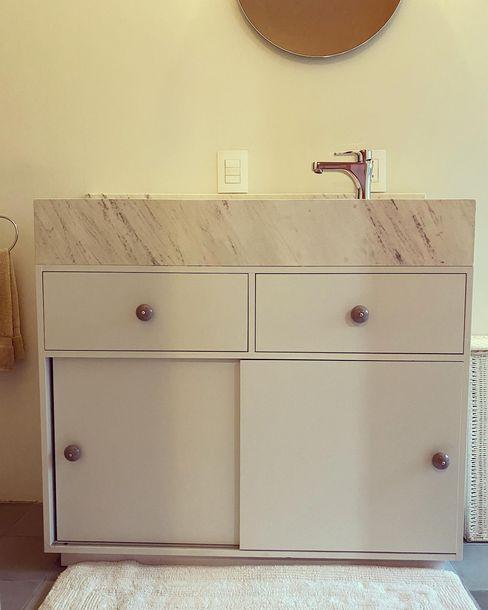 Mueble de baño MOKALI Carpintería Residencial BañosLavabos Madera Blanco